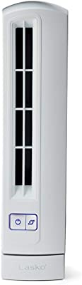 Lasko T14100 Air Stick Ultra Slim Oscillating Fan Tabletop Tower, White