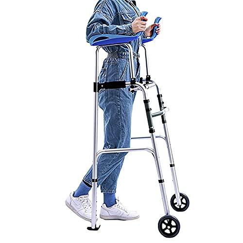 WILLQ Andador para Ancianos Ayuda de Movilidad Ajustable Soporte de Antebrazo Hombres y Mujeres de Edad Avanzada Adecuado para Rehabilitación Postoperatoria Minusválido Persona ⭐