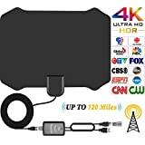 TV Antenna HD Indoor HDTV Antenna for Digital TV With 120 Miles Long