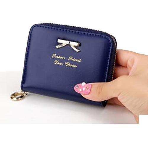 Distinct nuova borsa delle donne di cuoio Mini portafoglio carta titolare Zip piccola moneta frizione