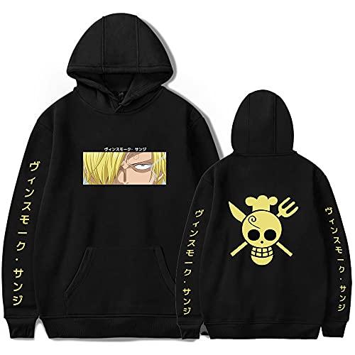 SHNW One Piece Hoodie Sanji Cosplay Kostüm 3D Druck Pullover Langarm Sweatshirt