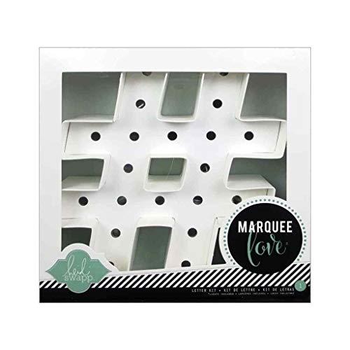21,6 x 21,6 x 5,6 cm Heidi Swapp 312000 Marquee Love Formes Hashtag Papier Blanc
