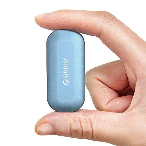 ORICO Disco Externo SSD NVMe250GB Velocità di Lettura in Fino a 1000 MB/s USB 3.1 Gen2 Tipo-C Interfaccia Portatile Unità flash a stato solido per Laptop,Tablet,PC e telefono Android(IV300 Blu)