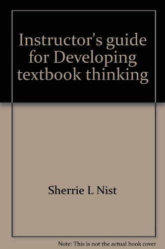Instructor's guide for Developing textbook thinking: Strategies for success in college