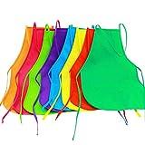Onepine 8 Pezzi 8 Colori Grembiuli in Tessuto Grembiuli per Bambini Grembiule per Bambini per Cucina, Aula, attività pittorica