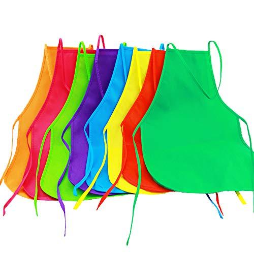 Onepine 8 Piezas 8 Colores Tela Delantales Pintura Delantales Art Smock para...