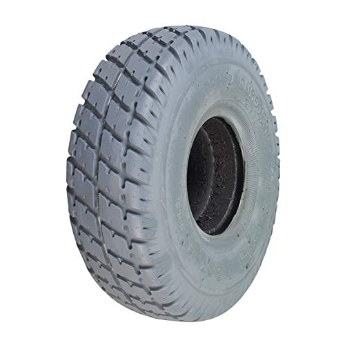 Monster Motion 3.00-4 (10'x3', 260X85) Foam-Filled Mobility Tire with Durotrap Knobby Tread