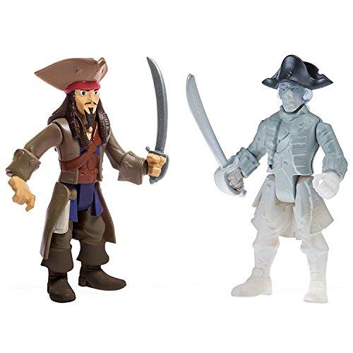 Piratas del Caribe La venganza de Salazar Paquete de dos figuras Jack Ghost Crewman