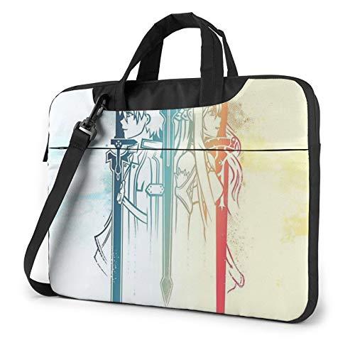 Sword Art Online Laptop Sleeve Bag Messenger Bag Ultra Portatile Protettiva Spalla Tablet Notebook Computer Custodia Per Il Trasporto Per Nero 40 cm
