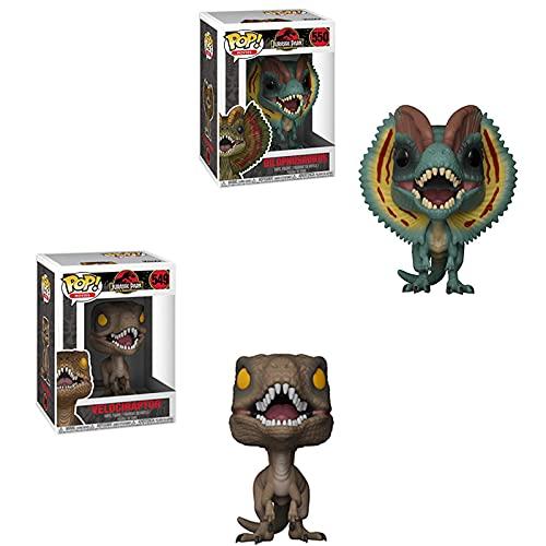 2 Piezas Figura De Vinilo Pop Anime Jurassic Park & Dinosaur VecociraptorPop con Caja PVC Figura De Acción De 10 Cm, Colección Modelo Figurita JuguetesRegalos