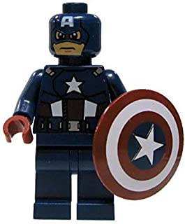 LEGO Marvel Super Heroes Minifigure - Captain America Dark Blue with Shield (6865)