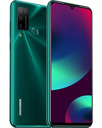 DOOGEE N20 Pro Móviles Libres 4G 6GB+128GB Android 10, Helio P60 Teléfono Móvil 6.3 Inch FHD+, Cámara Trasera Cuádruple 16MP, 4400mAh Smartphone Libre, Face ID& Huellas Dactilares - Verde