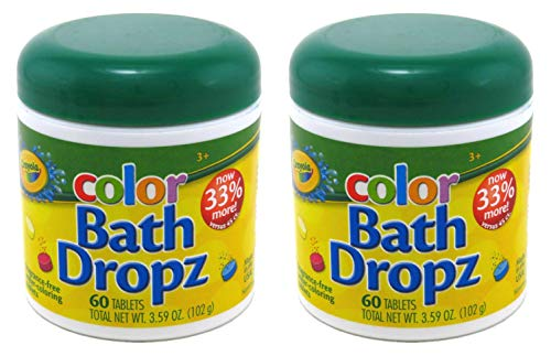 Crayola Bath Dropz 3.59 oz 60 Tablets (Pack of 2)