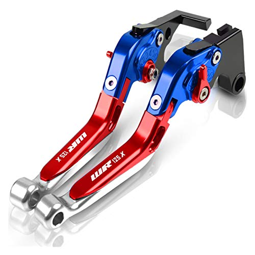 Kit De Embrague Palancas para Yam┐AHA WR125X WR 125X Accesorios De Motocicleta Manija Freno Mano Giratoria Palanca De Embrague Freno Ajustable Cubre Puños del Manillar Pit Bike (Color : P)