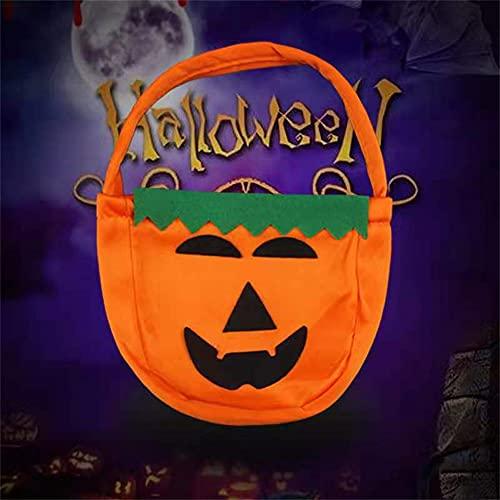RUONING Bolsa de dulces de calabaza de Halloween para trucos o golosinas bolsas de regalo para disfraz de nios, decoracin del hogar, 02