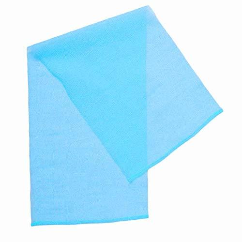 Toalla de baño de diseño Reutilizable de Tela de Calidad Estirable, Toalla de Limpieza Corporal, Tienda de salón para salón de Belleza(Blue)