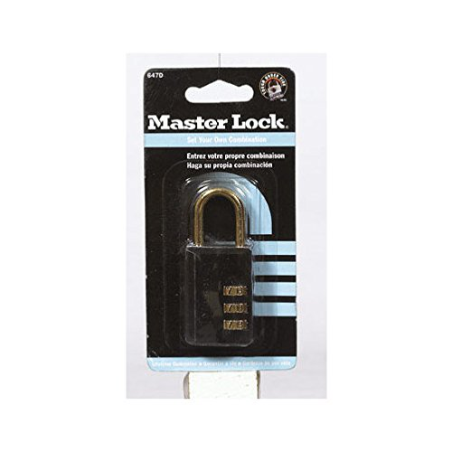 Best Prices! Master Lock 647D 1-1/4 Black Luggage Lock