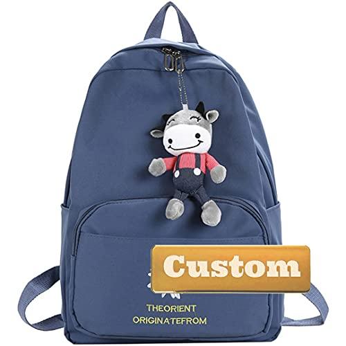 TCross Nom personnalisé Durable Sac à Dos léger Randonnée Jeux de Daypack Hommes 30L Casual Travel Girl Mini Kid (Color : Blue, Size : One Size)