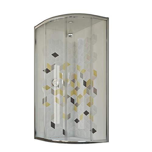 Box doccia semicircolare 70x90 CM H198 trasparente mod. Evolution