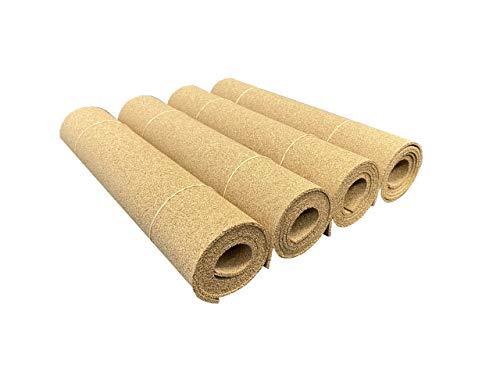baratos y buenos Rollo de corcho de alta densidad, 915 mm x 305 mm, espesor 3 mm, 4 rollos calidad