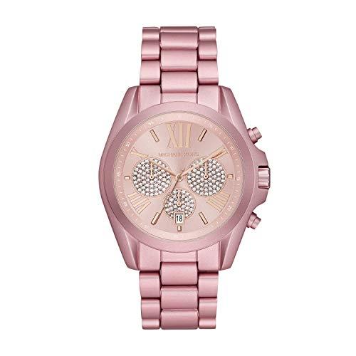 Michael Kors Women's Bradshaw Quartz Watch with Metal Strap, Pink, 20 (Model: MK6752)
