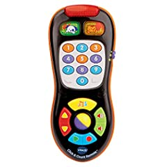 Baby remote control plays more than 45 sing-along songs, melodies, sound effects and phrases Toddlers can pretend channel surf through 9 channels including weather and news; interactive role play for an early education toy 10 colorful buttons introdu...