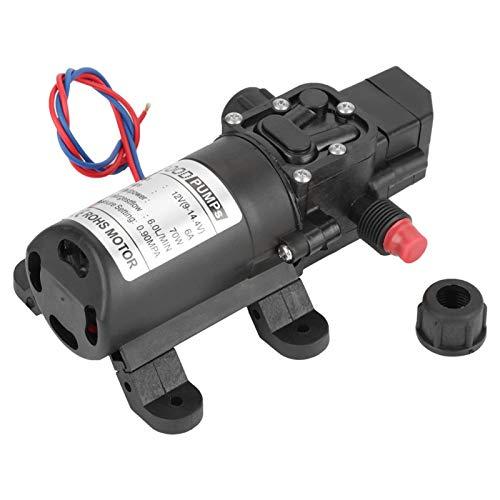 Bomba de agua de 12 V, bomba de diafragma, bomba autocebante, 70 W para bomba de agua, taladro de agua que agrega agua