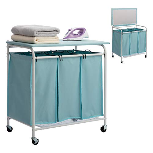 HollyHOME Laundry Sorter with Ironing Board