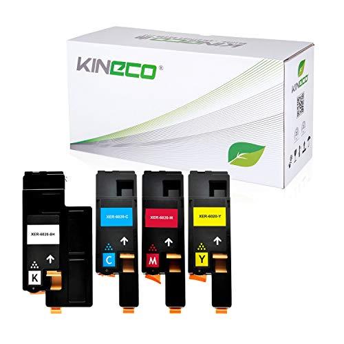 4 Toner kompatibel mit Xerox Phaser 6020BI, 6022, 6027, WorkCentre WC 6025, 6027 - Schwarz 2.000 Seiten, Color je 1.000 Seiten