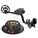 """TACKLIFE Metal Detector, Adjustable Metal Finder (41'-53') with 4 Color Indicator Lights & Audio Prompt, DISC/ PP Function, 8"""" Waterproof Search Coil, Sensitivity Control, Carrying Bag Included- MMD05"""