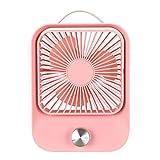 LEEDY - Ventilador de mesa con control de velocidad sin escalones, pequeño ventilador eléctrico,...