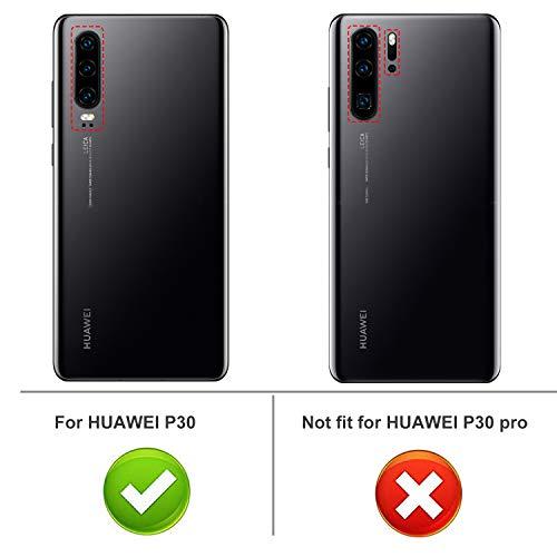 iBetter für Huawei P30 Hülle, Ultra Thin Tasche Cover Silikon Handyhülle Stoßfest Case Schutzhülle Shock Absorption Backcover Hüllen passt für Huawei P30 Smartphone (Schwarz) - 2