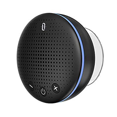 TaoTronics Bluetooth Shower Speaker, (2019 Upgraded) Waterproof Wireless Bluetooth Speaker (IPX7, Build-in Microphone, Solid Suction Cup, 6 H Play Time) from TaoTronics