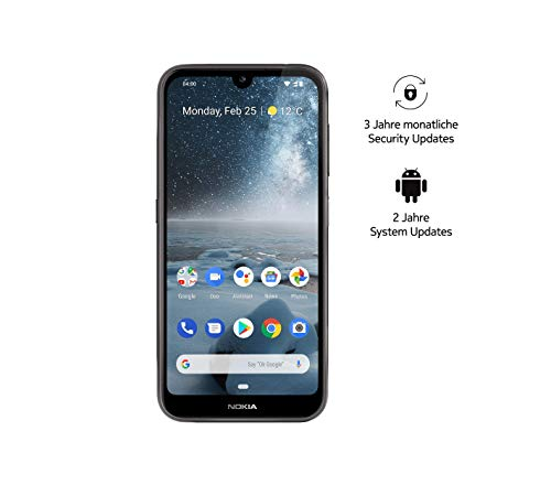 Nokia 4.2 Dual SIM Smartphone - Prodotto tedesco (14,5 cm (5.71 pollici), fotocamera principale 13 MP, 3 GB RAM, 32 GB di memoria interna, Android 9 Pie) nero, Amazon Edition con Powerbank