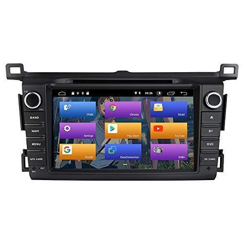 GTFHUH Autoradio Navigatore per Toyota RAV4 2013-2015 Android 10.0 Double DIN 8'Car Dvd Player Multimedia Navigazione GPS Auto Radio Stereo Auto Riproduzione Automatica/TPMS/OBD / 4G WiFi/Dab/SWC