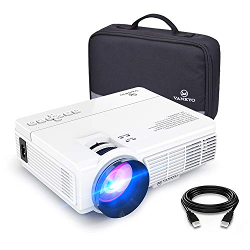 VANKYO LEISURE 3 Mini Projector, 1080P and 170'' Display Supported, 3600L Portable Movie Projector with 40,000 Hrs LED Lamp Life, Compatible with TV Stick, PS4, HDMI, VGA, TF, AV and USB