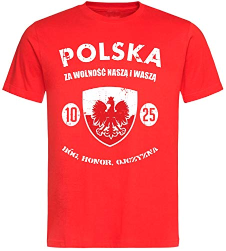 aprom T-Shirt Polen rot NC01 - Polska WM World Cup (L)