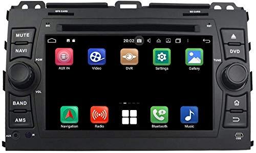 FDSAD Android 10.0 Car DVD Player WiFi GPS Radio 7 Inch Touchscreen Bluetooth DAB and Radio Head Unit for Toyota Land Cruiser Prado 120(2003-2009),4gb ddr3 ram 64gb