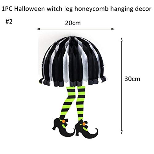 Party Dekoration Spaß Halloween Dekorationen Happy Halloween Banner Spinne Kürbis Ghost Bat Wimpel Flaggen Ammer Girlande Foto Prop, Hexenbein Wabe-2