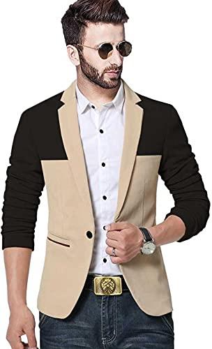 DARBAR IN Men's Slim Fit Single Breasted Blazer. (44)