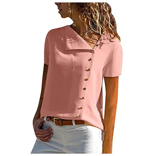 MAZHANG Damen Oberteile Saledamen Oberteile Grosse grössen langT-ShirtSchalenExotischdamen Oberteile Sommer sexy(Pink M)