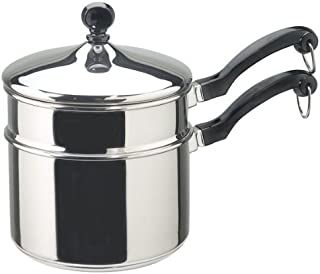 Farberware Classic Series 2-Quart Covered Saucepan with Double Boiler Insert