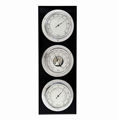 Barigo Baro Hygro weerstation, thermometer, verticaal chroom