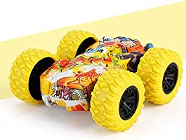 【Deal!!!】 Pull Back Cars Friction Powered Vehicles, Inertia-Double Side Stunt Graffiti Car Off Road Model Toy Car Best...
