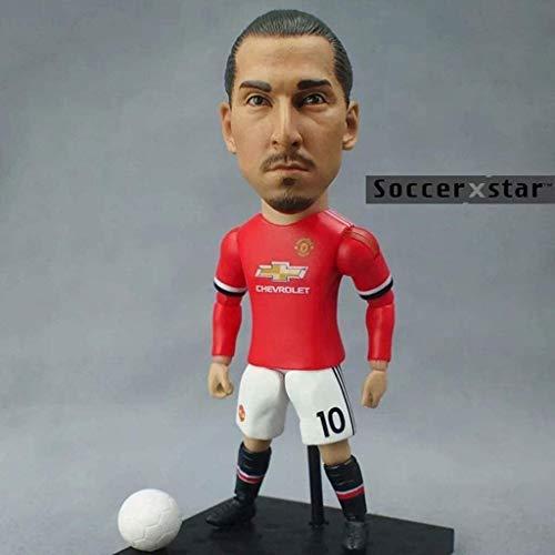 Soccer Star 1/6 Zlatan - Figura de acción de coleccionista de Manchester United/coleccionables para fanáticos del fútbol/decoración del salpicadero para coche 13 cm