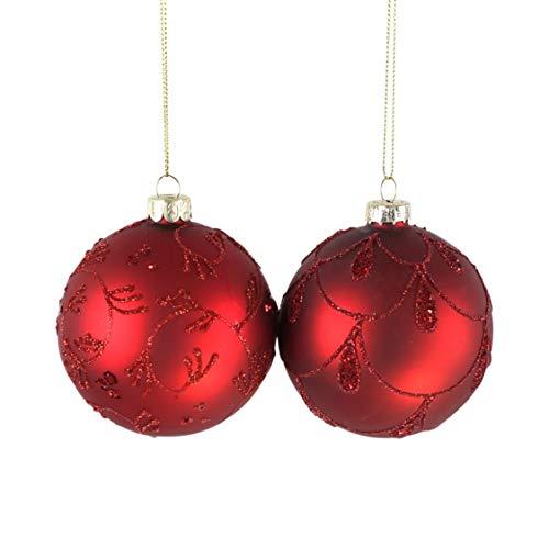Voss - Bola de Cristal (2 Compartimentos, 8 cm), Color Rojo Brillante