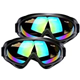 Ski Goggles UV Protection Over Glasses Motorcycle Skiing & Skating & Outdoor Sport for Men Women & Youth 2 PCS