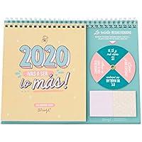 Mr. Wonderful WOA09851ES, Calendario de Sobremesa 2020, Talla Única, Multicolor