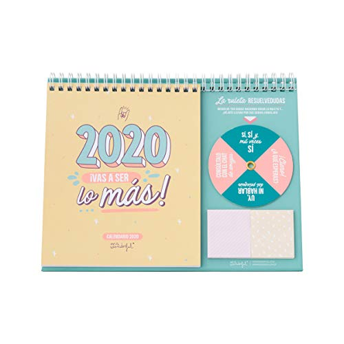 Mr. Wonderful WOA09851ES, Calendario de Sobremesa 2020, Talla Única, Multicolor