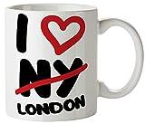 I Love London Funny Mug 11oz Coffee Tea Novelty Mug Ceramic White 11 Ounce Great Gift Idea Meme Cup